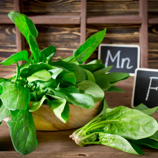 spinach is high in iron and magnesium